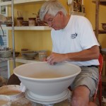 Rick throwing large bowl